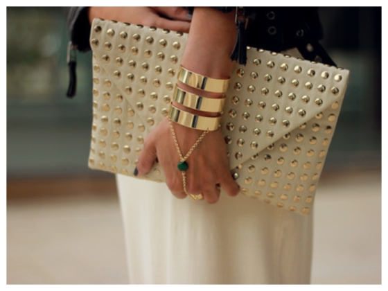 collage bolso gold